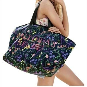 Victoria Secret Floral Weekender Canvas Tote NWT